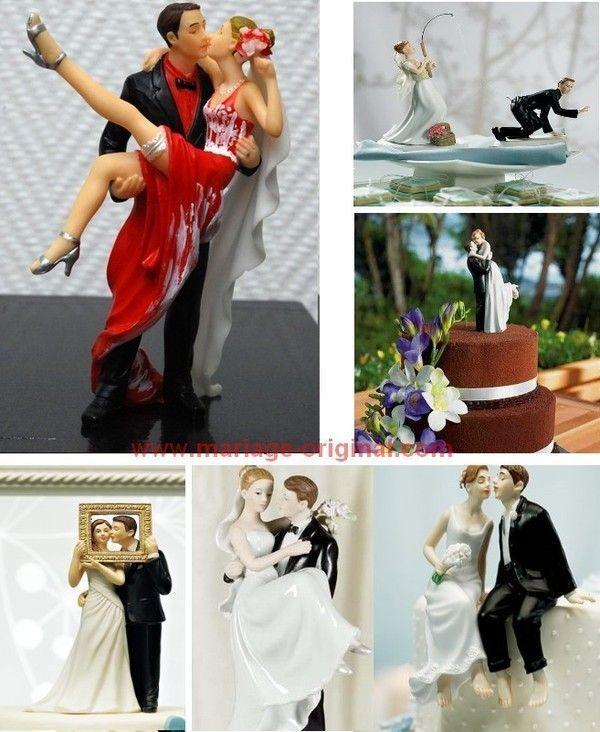 figurines rigolotes pour gateaux de mariage. Black Bedroom Furniture Sets. Home Design Ideas