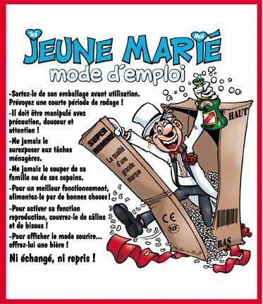 Humour sur le marie - Texte felicitation mariage humour ...